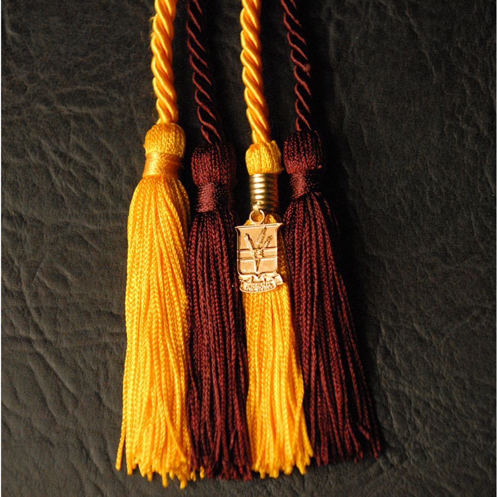 gold honor cords with Tau Sigma key
